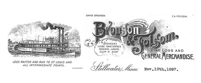 Bronson & Folsom vintage leterhead